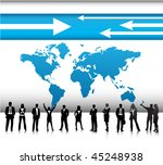 business people with world map | Shutterstock .eps vector #45248938