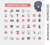 creative ideas icons | Shutterstock .eps vector #452502133