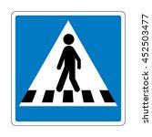 denmark pedestrian crossing sign | Shutterstock .eps vector #452503477