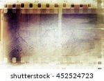 film negative frames on grunge... | Shutterstock . vector #452524723