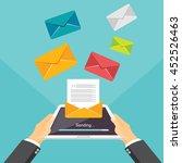 email illustration. sending or...   Shutterstock .eps vector #452526463