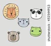 Hand Drawn Funny Animals Print