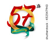 anniversary emblems 57... | Shutterstock .eps vector #452547943