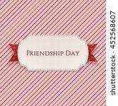 friendship day card on red... | Shutterstock .eps vector #452568607