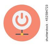 power button colored vector icon