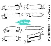 old ribbons set banners.... | Shutterstock .eps vector #452601133