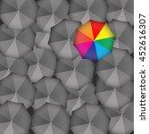 different color umbrella that...
