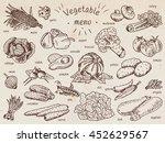 vegetable menu  garlic ... | Shutterstock .eps vector #452629567