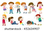 boys and girls being sick... | Shutterstock .eps vector #452634907