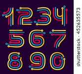 numbers set logos formed by... | Shutterstock .eps vector #452635573