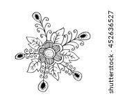 floral doodle | Shutterstock .eps vector #452636527
