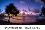 noosa sunset. a wide angle shot ... | Shutterstock . vector #452642767