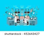 vector flat illustration... | Shutterstock .eps vector #452643427