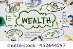 finance earnings wealth invest... | Shutterstock . vector #452644297