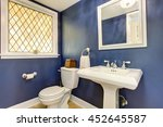 brilliant bathroom with blue... | Shutterstock . vector #452645587