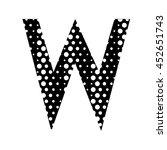alphabet on the white hipster... | Shutterstock . vector #452651743