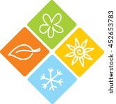 logo four seasons | Shutterstock .eps vector #452653783