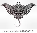 ornate stingray fish in tattoo... | Shutterstock .eps vector #452656513