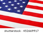 american flag close up. focus... | Shutterstock . vector #452669917