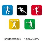 set of sports games. athletes... | Shutterstock . vector #452670397