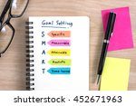 hand writing definition for... | Shutterstock . vector #452671963