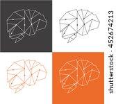 brain. technologies. logo... | Shutterstock .eps vector #452674213
