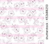 seamless pattern of tropical... | Shutterstock .eps vector #452688253