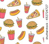 seamless background. fast food | Shutterstock .eps vector #452724727