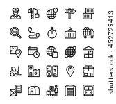 global logistics vector icons 4 | Shutterstock .eps vector #452729413