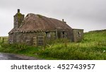 blackhouse with thatched rood... | Shutterstock . vector #452743957
