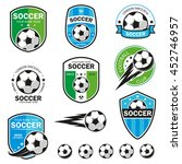 set of football logos.   Shutterstock .eps vector #452746957