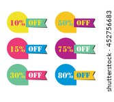 set of labels sale in the form... | Shutterstock .eps vector #452756683