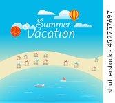summer season vector concept.... | Shutterstock .eps vector #452757697