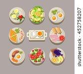 breakfast concept with fresh... | Shutterstock . vector #452758207