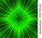 3d Illustration. Radiant Green...