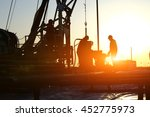 oil drilling exploration  the... | Shutterstock . vector #452775973