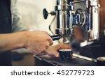 barista coffee maker machine... | Shutterstock . vector #452779723