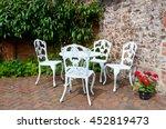 garden seating  decorative cast ... | Shutterstock . vector #452819473