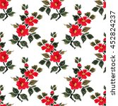 seamless floral pattern... | Shutterstock . vector #452824237