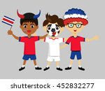 fan of costa rica national... | Shutterstock .eps vector #452832277
