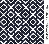 geometric seamless pattern x... | Shutterstock .eps vector #452846467