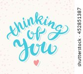 thinking of you card. | Shutterstock .eps vector #452851387