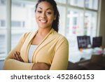 portrait of confident young... | Shutterstock . vector #452860153