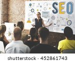 searching engine optimizing seo ... | Shutterstock . vector #452861743