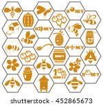 icons on white background in... | Shutterstock .eps vector #452865673