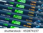 digital stock market chart on a ... | Shutterstock . vector #452874157