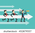 teamwork and leadership concept | Shutterstock .eps vector #452879557