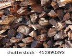 stack of wood   Shutterstock . vector #452890393