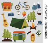 set of camping equipment... | Shutterstock .eps vector #452892517