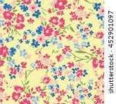 beauty floral pattern  | Shutterstock .eps vector #452901097